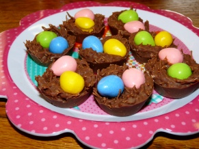 Shredded Wheat Easter nests