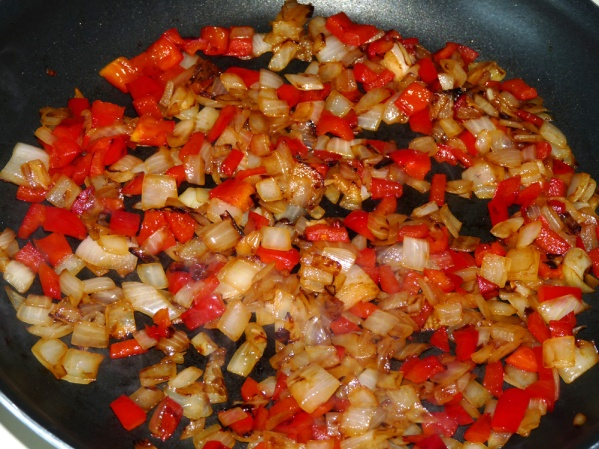 Add bell pepper and saute until it is also slightly browned