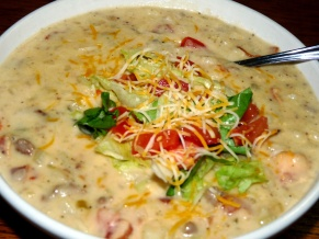 Bacon Cheeseburger Hashbrowns Soup