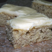 Cream Cheese Frosted Banana Bars