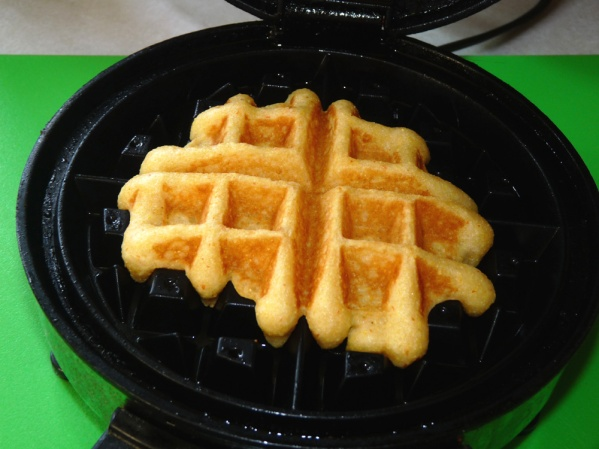 1/3 cup of batter produced a very small waffle