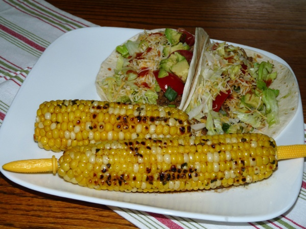 Pork Tacos and Grilled Corn with Herb Butter