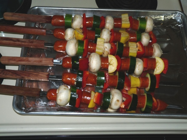 Filled skewers