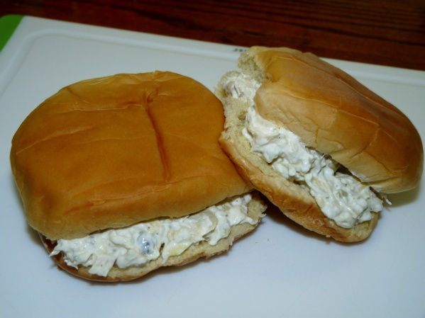 Artichoke Jalapeno Cod Spread on Buns