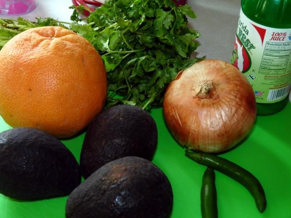 Grapefruit Guacamole