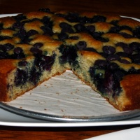 Coconut Oil Blueberry Cake