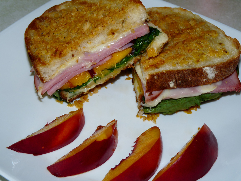 Crispy Ham and Cheese Panini
