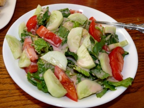 Fresh Salad with Rhubarb Vinaigrette
