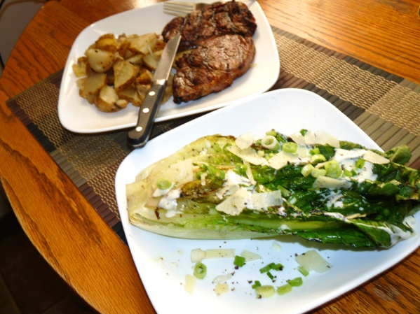 Ribeye and Grilled Romaine