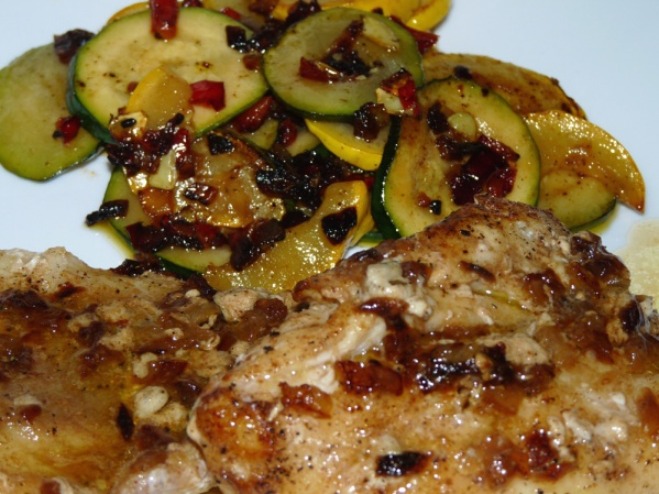 Buttery Stir Fry with Zucchini and Summer Squash