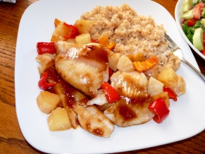 Teriyaki Pineapple Walleye