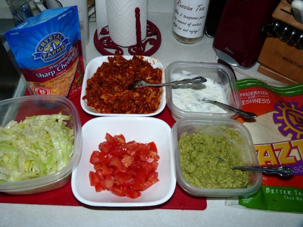 Assemble the rest of the ingredients for the taco bar