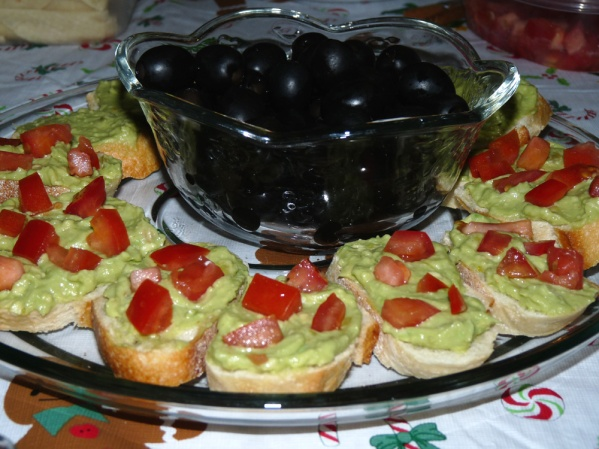 Avocado Crostini Wreath