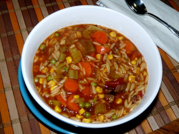 how to make vegetable soup with beef broth