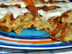Carrot Cake Oatmeal Waffles