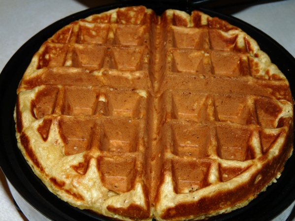 Cook waffle until golden brown