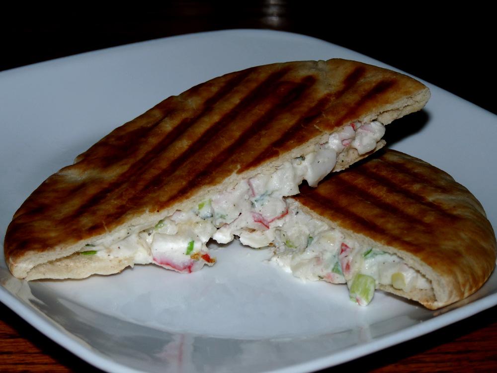Creamy Crab Rangoon Panini