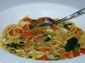 Grilled Chicken Soup