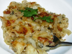 Polish Cabbage Potatoes and Bacon Casserole