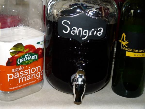 Mix in a glass jar with a tap