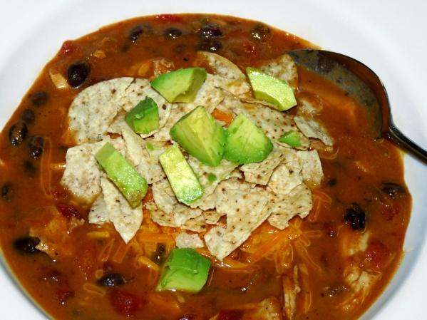 Pumpkin Chicken Tortilla Soup