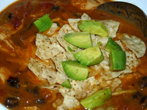 Pumpkin Chicken Tortilla Soup