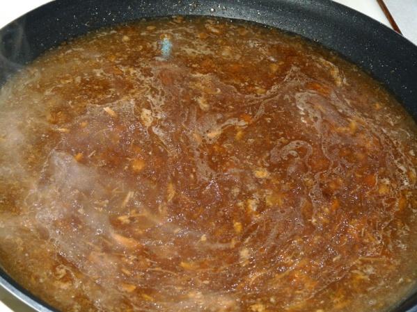 Heat gravy for easier distribution