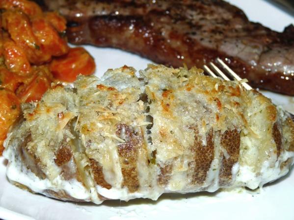 Mario Batali's Cheesy Hasselback Potatoes