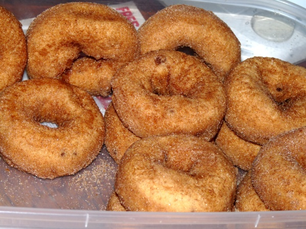 Cinnamon Applesauce Doughnuts