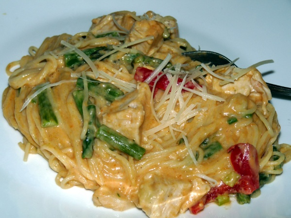 Pumpkin Turkey Asparagus Pasta