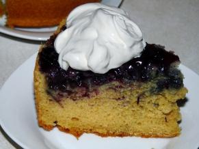 Vanilla Blueberry Upside-down Cake