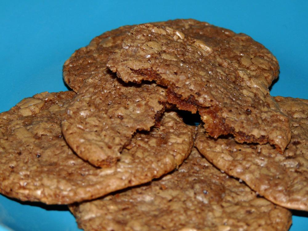 Chocolate Bourbon Toffee Cookies
