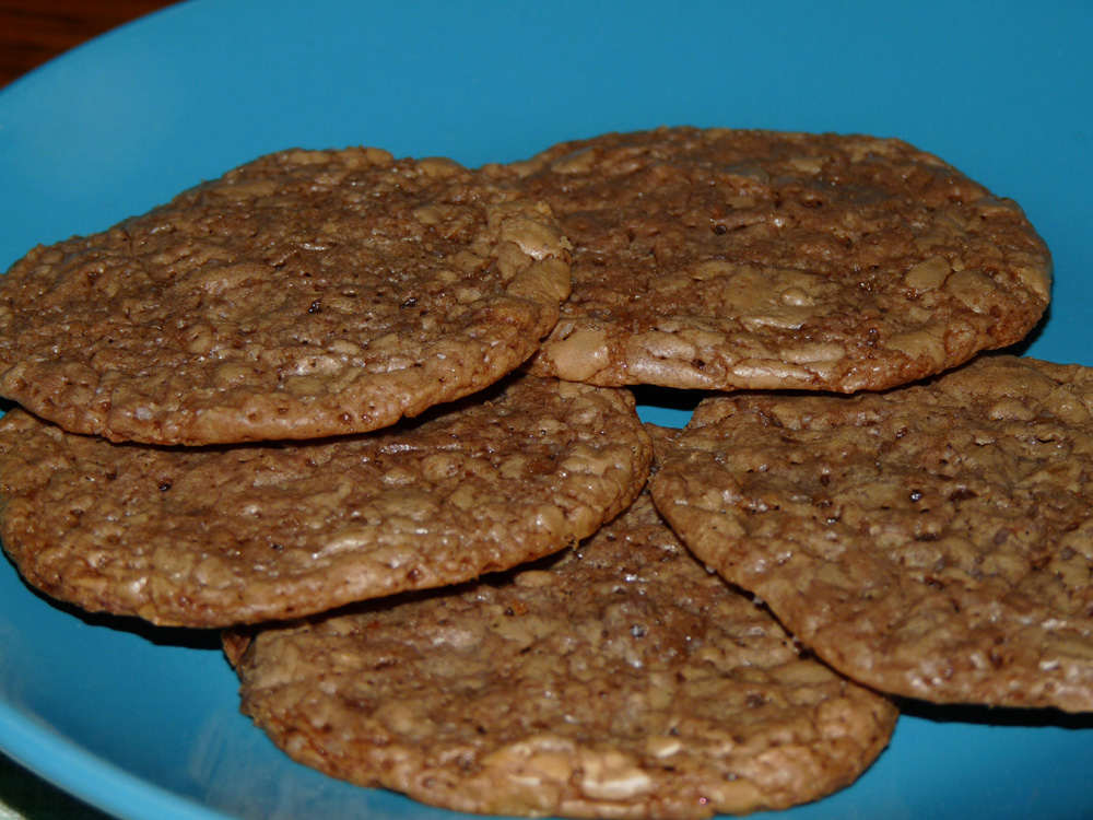 Salted Chocolate Bourbon Toffee Cookies