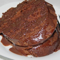 Fudgy Chocolate Bundt Cake and Rummage Sales