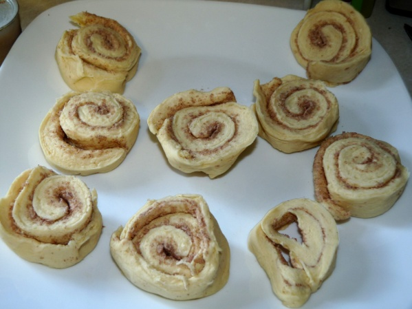 Peel rolls out of the tube and place on a plate
