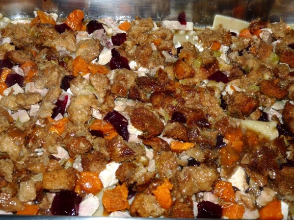 Spread a layer of stuffing next