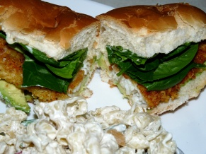 Parmesan Walleye Subs and Asparagus Pasta Salad