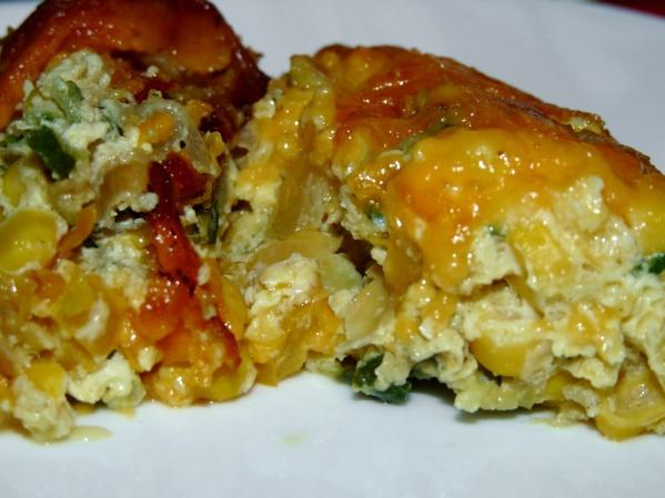 Cheesy Zucchini Corn Casserole