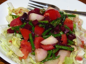 Asparagus Beet Salad with Orange Vinaigrette