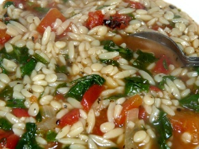 Orzo Spinach Soup