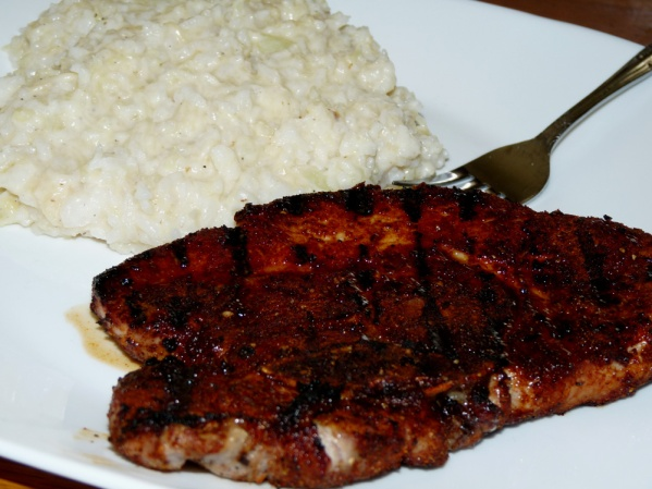 Grilled Spice Rubbed Pork Chops