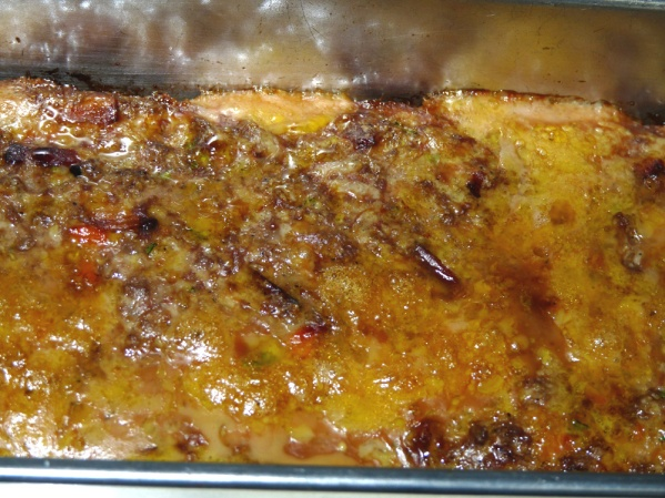 Bake meatloaf for an hour