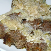 Irish Meatloaf with Cabbage Cream Sauce