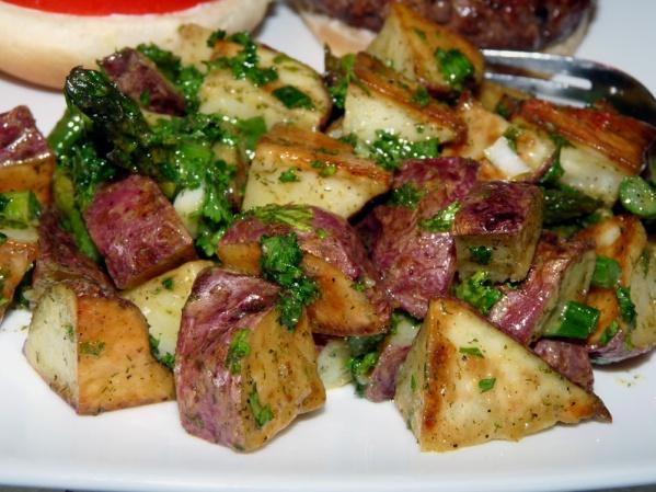 Roasted Potato Salad with Asparagus
