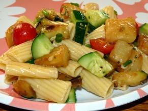 Zucchini Pineapple Pasta Salad