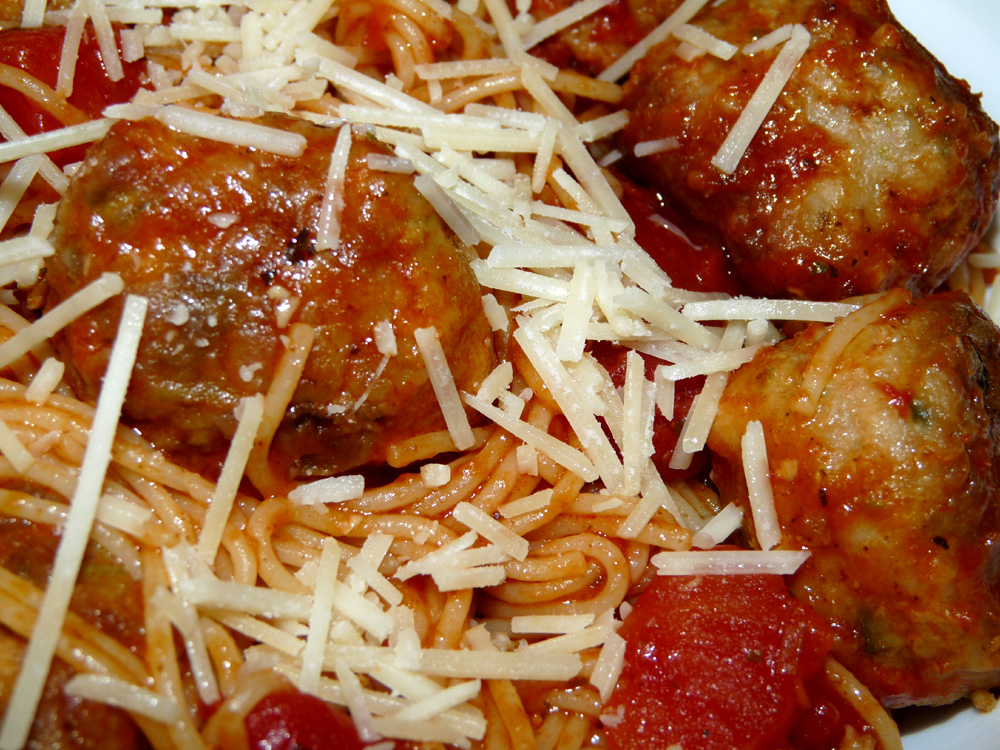 Turkey and Pork Meatballs with Zucchini