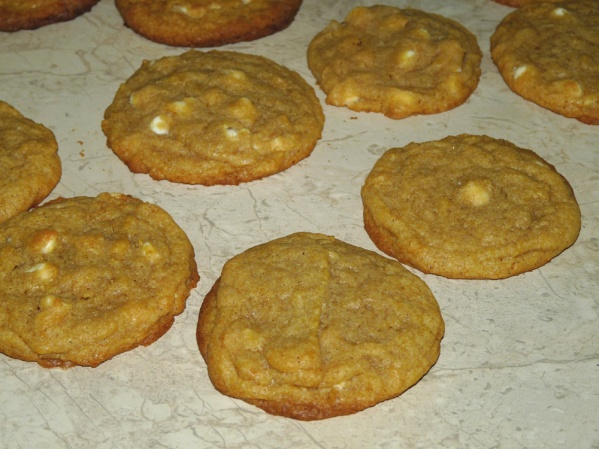 Pumpkin Cookies with White Chips