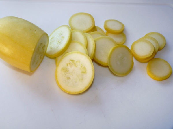 Summer squash, sliced