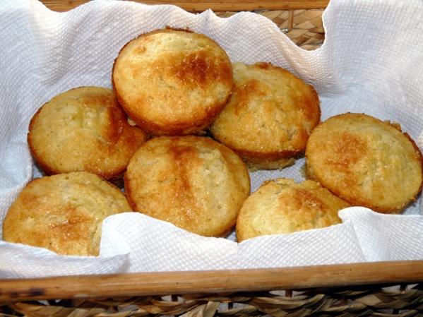 Cornmeal Muffins, Honey
