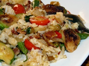 Garden Vegetable Rice Fry